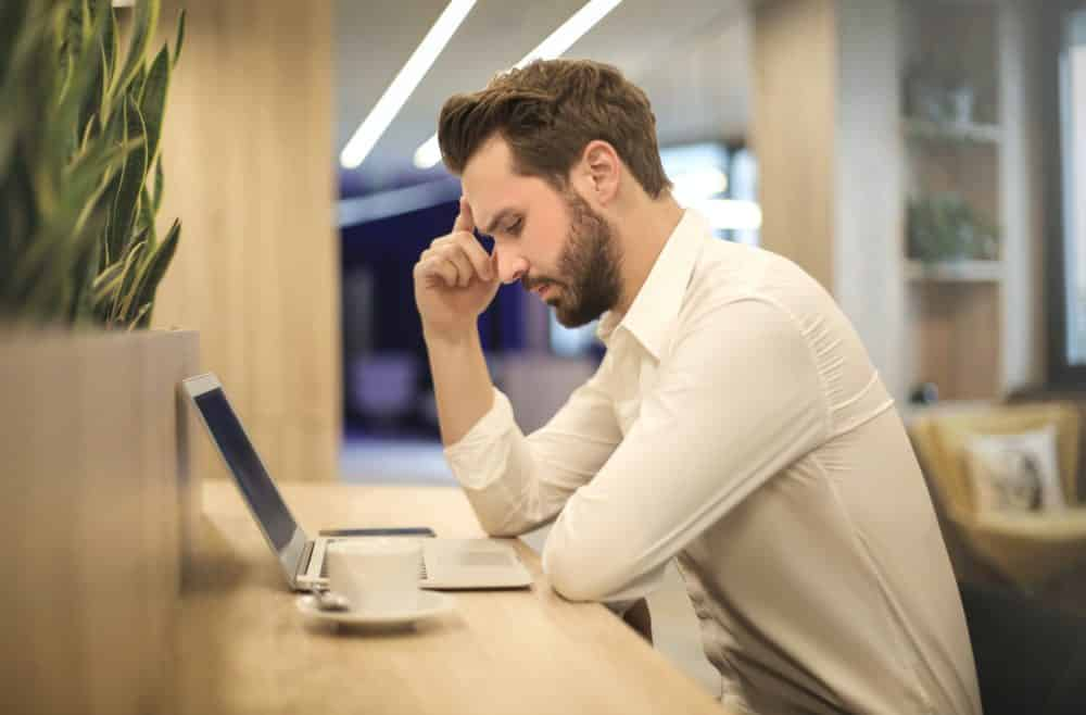 Man considering his mortgage options