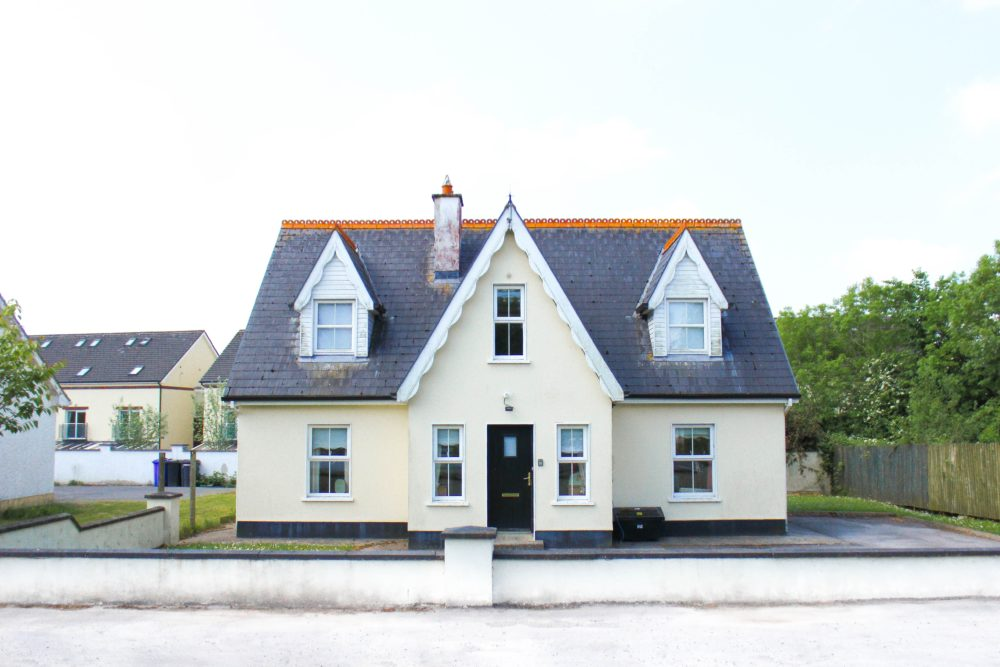 A cream house that has been bought