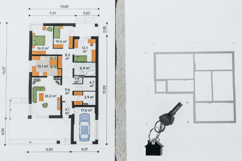 Floorplans and keys for a new build home